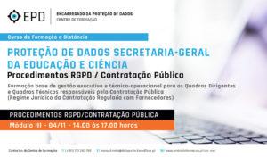 Procedimentos RGPD | Contratação Pública na SGEC