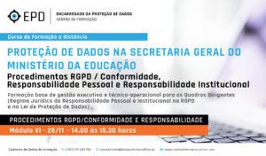 RGPD | Conformidade- Responsabilidade Pessoal e Institucional