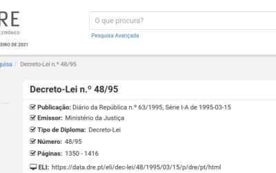 Decreto-Lei n.º 48/95, de 15 de março