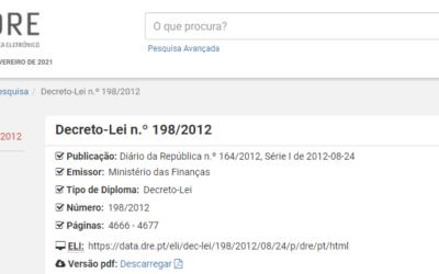 Decreto-Lei n.º 198/2012, de 24 de agosto