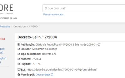Decreto Lei n.º 7/2004, de 07 de janeiro