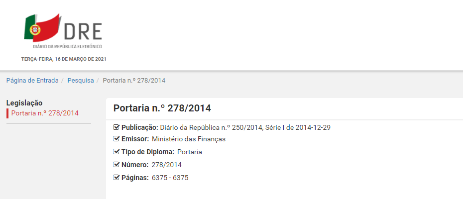 Regime Transitório da Portaria n.º 426-A/2012, de 28 de dezembro, durante o ano de 2015